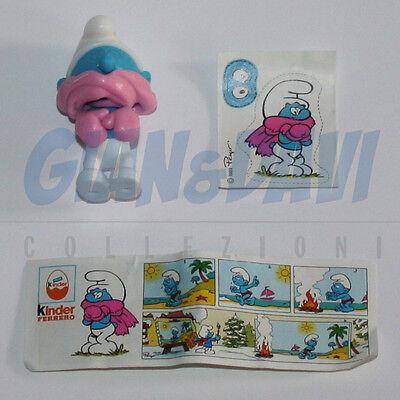 Kinder Ferrero Puffi Puffo Smurf Smurfs Schlumpfe 1990 - 03 Mit Schal + Bpz + Ad
