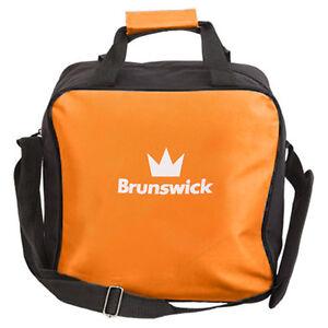 Brunswick TZone Single Tote 1 Ball Bowling Bag Orange