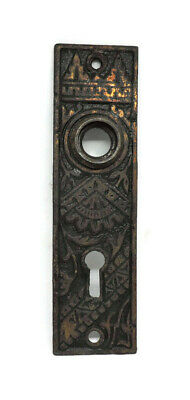 "ANTIQUE ORNATE IRON KNOB BACKPLATE 2 1//2/"" X 7/"""