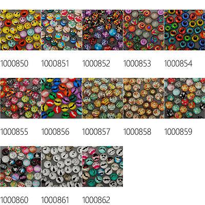 50Pcs 16mm Round Flatback Cartoon Photo Glass Cabochons Dome Cameo Jewelry DIY