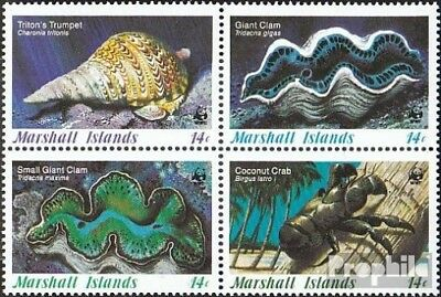 Animal Kingdom Active Marshall-islands 73-76 Block Of Four Unmounted Mint Stamps Never Hinged 1986 Sea Snai For Improving Blood Circulation