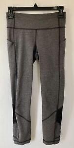 Lululemon-Pace-Rival-Crop-Leggings-22-034-Heathered-Gray-Black-Women-Sz-4-Yoga-Pant