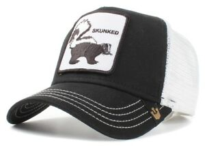 1aaf9224726b9 New Goorin Bros. Skunked Animal Farm Trucker Snapback Hat Cap Black ...