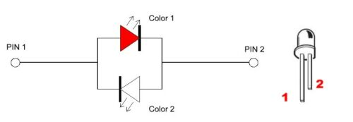 S666 20 Stk DUO LEDs 5mm Bi-Color warmweiß rot klar Lichtwechsel Loks Wendezug