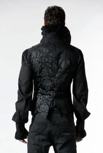 Brokat Satin Weste Jacke Gothic Barock Dandy Victorian Stickerei PunkRave Herren