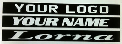 """VW FOX /""""YOUR NAME/"""" PERSONALISED THIRD 3RD BRAKE LIGHT STICKER //OVERLAY-MOD-CAR"""