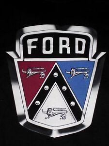 Ford-V8-Testa-Piatta-1949-50-51-XXL-T-Camicia-Nero-Cappuccio-Emblema-2XL