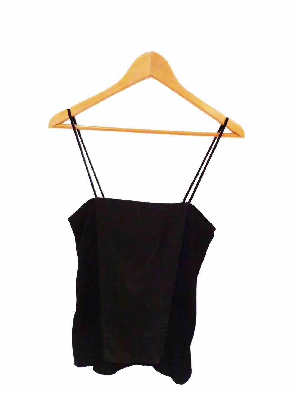 Designer Ginger & Smart Größe 6 schwarz Leather Panel Camisole Style Woherren Top