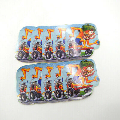 10pcs Rat Fink Vinyl Decal Graffiti Hot Rods Ed Roth Chopper Laptop Car Stickers