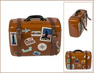 Spardose Keramik Reisekoffer Urlaubsgeld Reisekasse Geldgeschenk Sparbüchse