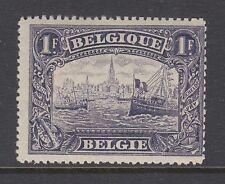 Belgium Sc 119 MLH. 1915 1fr Ship on Antwerp River