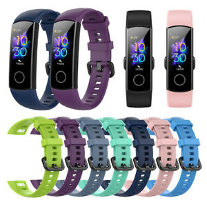 pour-Huawei-Honor-Band-5-4-Dragonne-en-silicone-Bracelet-de-montre-intelligente