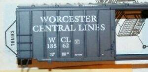 Athearn-Worcester-Central-Lines-50-039-RailBox-Style-Car-Blue-Box-Kits-NEW