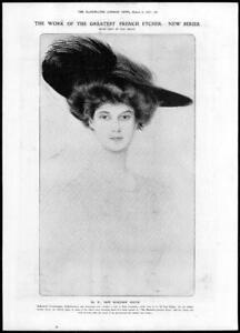 1907-FINE-ART-Antique-Print-Paul-Hellau-Etcher-French-Marjorie-Gould-244