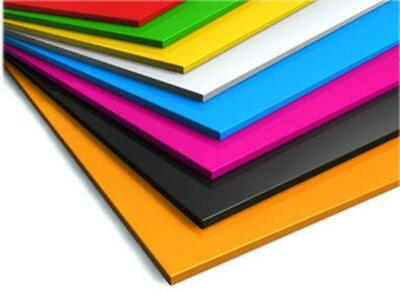 colour PERSPEX acrylic sheet plastic 18 colours A5-A1 panel material 3mm model
