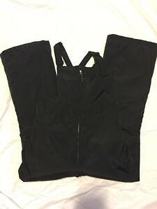 9fbebba61525 Lands  End BLACK Girls Squall Waterproof Iron Knee Snow Bibs Size 16 ...
