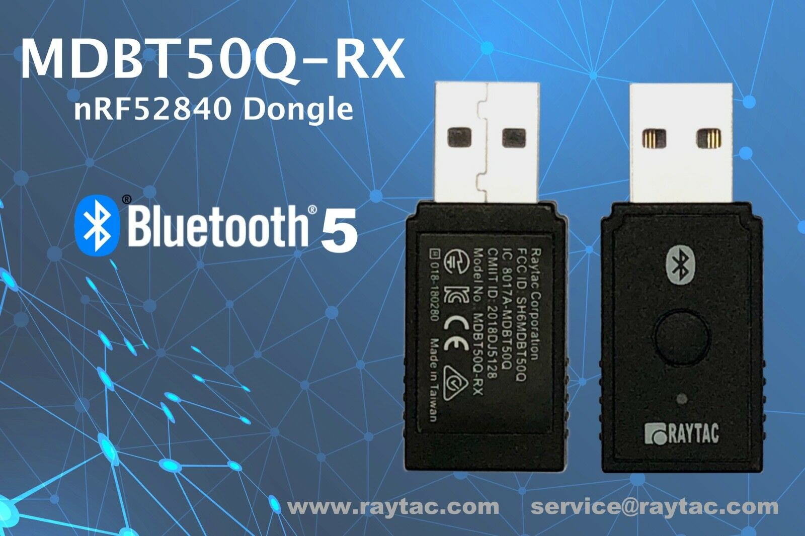 Nordic Nrf52840 USB Dongle BT 5 0 Ble Raytac Mdbt50q-rx Bluetooth Long Range