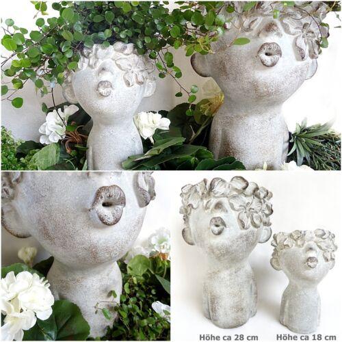 Pflanztopf Frauen Pflanz kopf Garten Büste Blumen Topf schale Übertopf wetterfes