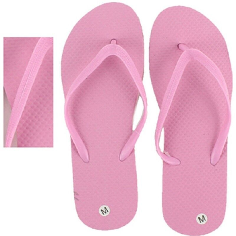 Women's Women's Women's Flip Flops, Wholesale lot of 48 pairs, Pink color with assorted Sizes 18bb80