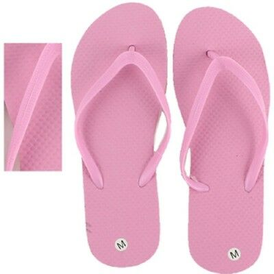 Pearl Pink Womens Wholesale Bulk Flip Flops Lot of 24 Pairs Assorted Sizes