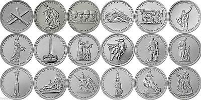 Russia 5 rubles 2014 70 years of Victory 1941-1945 18 coins unc