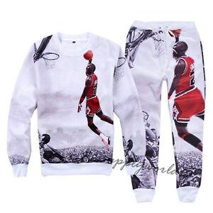 252e1893f54 Men Women's 3D Print Jordan Star Slam Dunk Sweatshirt Jogging pants ...