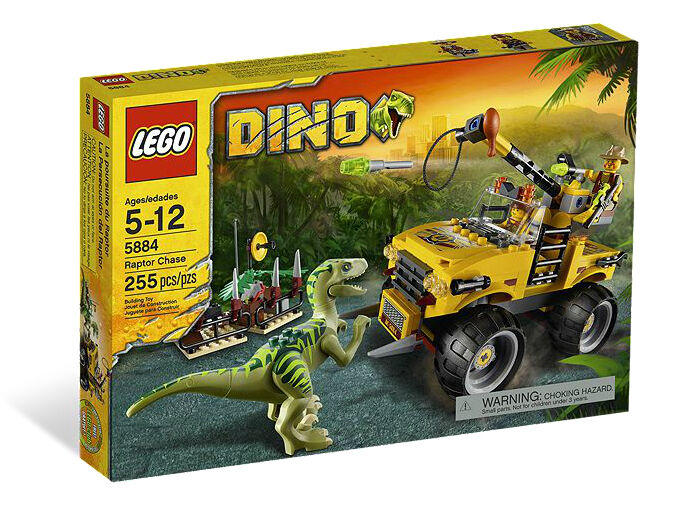 LEGO  Dinosaurs Raptor Chase (Set 5884) Brand New In Box Rare - Discontinued