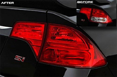 """16/""""x48/"""" Gloss Red Headlight Fog Tail Light Vinyl Tint Film for Honda Ford Toyota"""