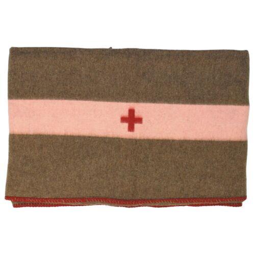 Schweizer Armee Decke Braun Wolle CH Swiss Army Blanket