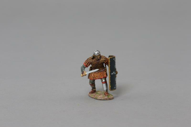 THOMAS GUNN ROM074B - Roman Legionnaire (30th Legion) Painted Metal Figure