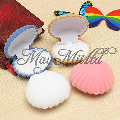 Shell Ring Box Pendant Cufflink Earring Stud Jewelry Storage Case Gift Sales H