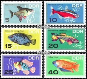 Ddr 1221-1226 (édition Complète) Oblitéré 1966 Poissons D'ornement 50% De RéDuction
