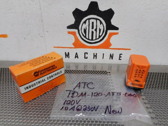 ATC TDM 120 AFB 060 Diversified Electronics Time Delay Relay TDM120AFB060