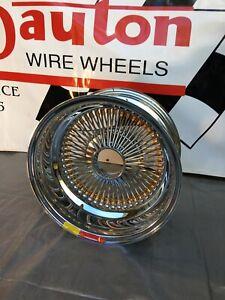 Details About New Dayton Wire Wheels 15 X 7 Gold Nips Reverse Offset 100 Spoke One Rim
