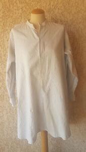 Liquette-ancienne-chemise-de-nuit-de-grand-pere-en-coton