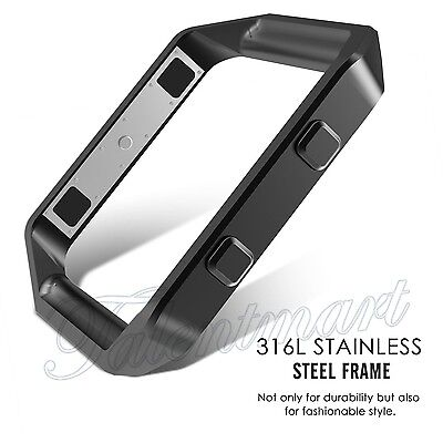 Polished Stainless Steel Watch Holder Replacement Metal Frame For Fitbit Blaze