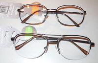 Personal Optics El Elements Aviator 1/2 Rim & Rectangle Frame Reading Glasses