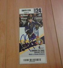 Signed Peter Regin 1st NHL Goal Ticket     Free s/h