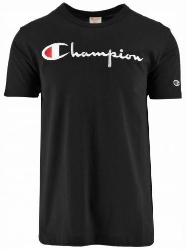 Champion Reverse Weave Black Big Script Logo T-Shirt