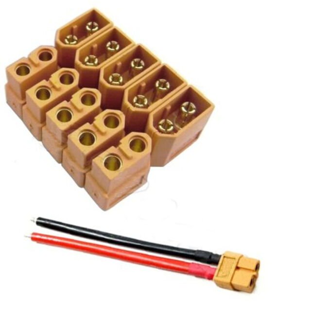 5 Pairs XT60 Male Female Bullet Connectors Plugs for RC Lipo Battery Pratical