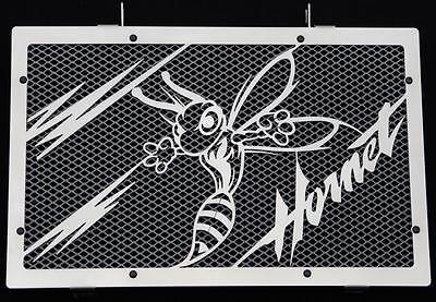 """Cache / Grille De Radiateur Inox Poli 600 Hornet 07>14 """"frelon V2"""" + Grill. Alu Gemakkelijk Te Repareren"""