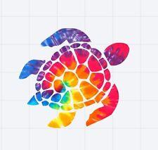 Sea Turtle Decal//sticker rainbow tie dye
