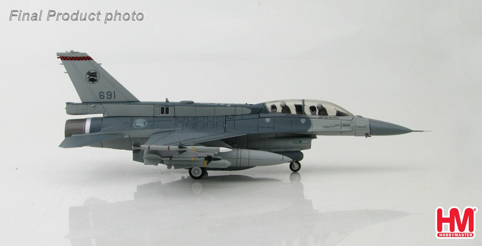 Hobbymaster HA3837 1 72 Lockheed F-16D - Fuerza Aérea República de Singapur