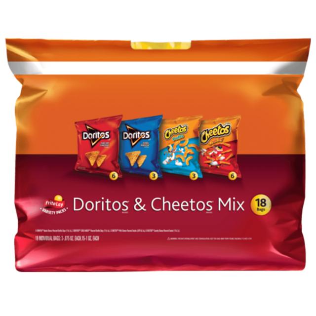 Frito-Lay Doritos & Cheetos Mix Variety Pack, 18 Count