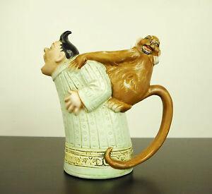 Pitcher Anthropomorphic Choose Monkey Ape Monkey Curiosity 5 1/2in