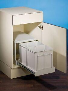 Clax 2/450-2, Einbau Abfalleimer, 2x 15L, Küchen Mülleimer, Auszug ...