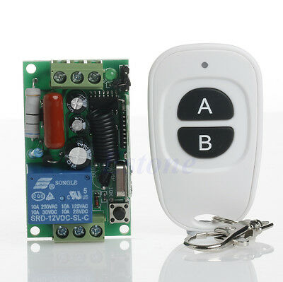 220V 315/433MHz Wireless ON OFF Light Remote Control Switch Receiver Transmitter