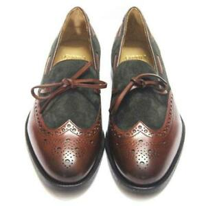 Slip-On-Men-Handmade-Loafers-Wingtip-Casual-Party-Calf-Leather-Shoes