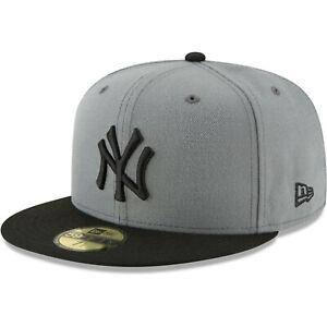 9b20079109319 New York Yankees New Era Basic 59FIFTY Fitted Hat - Gray   eBay