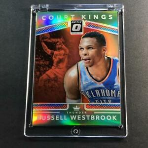 RUSSELL-WESTBROOK-2017-DONRUSS-OPTIC-30-COURT-KINGS-LIME-GREEN-REFRACTOR-149